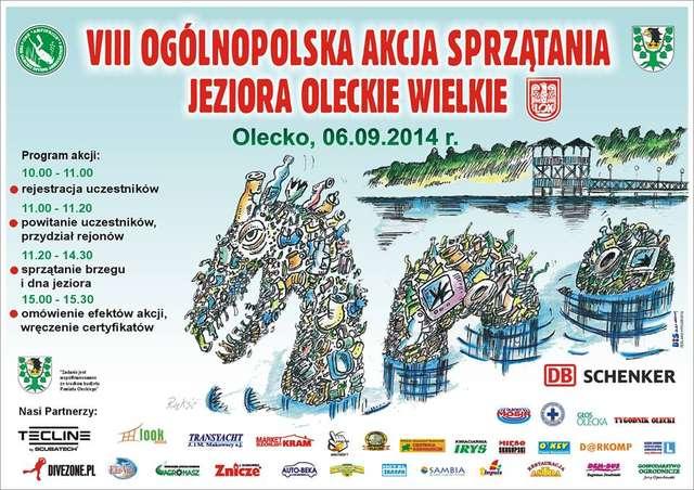 VIII Ogólnopolska Akcja Sprzątania Jeziora Oleckie Wielkie - full image