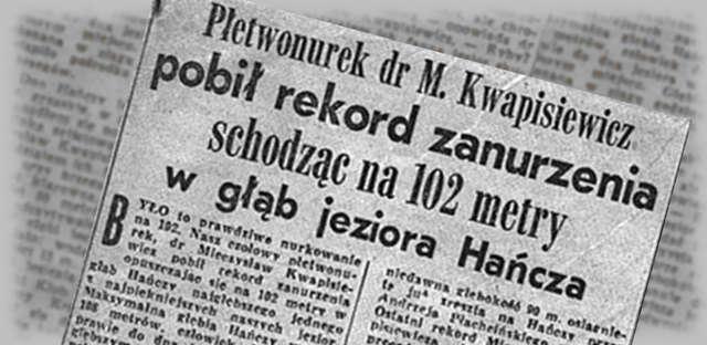 Rekordowe nurkowania w latach 60-dziesiątych XX-wieku w Polsce. - full image