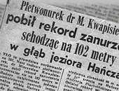 Rekordowe nurkowania w latach 60-dziesiątych XX-wieku w Polsce.