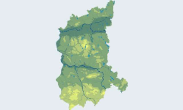 Jeziora w województwie lubuskim udostępnione do łowiectwa podwodnego. - full image