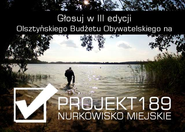 Nurkowisko miejskie w Olsztynie. - full image