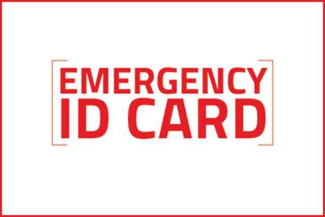 Emergency ID Card - full image